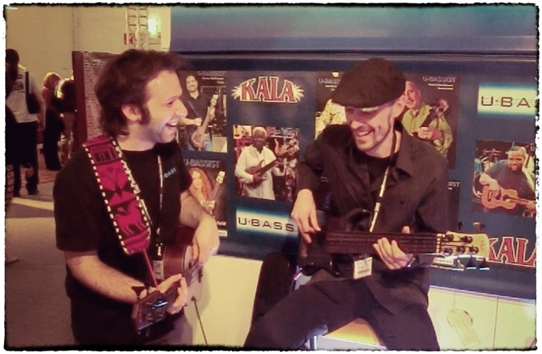 Armin Alic and me jammin' at the Ubass booth!