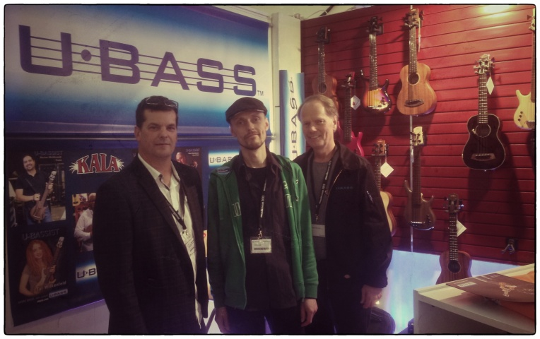 Mike Upton, me and Rick Carlson at the UBass booth!