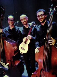 The Bass Section of the Swedish Chamber Orchestra and me!