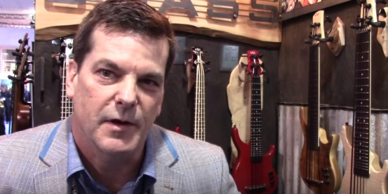Mike Upton in the Kala booth at NAMM 2016.  Photo: YouTube screen capture