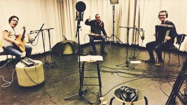 Live in studio recording with vocals, guitar and accordion.